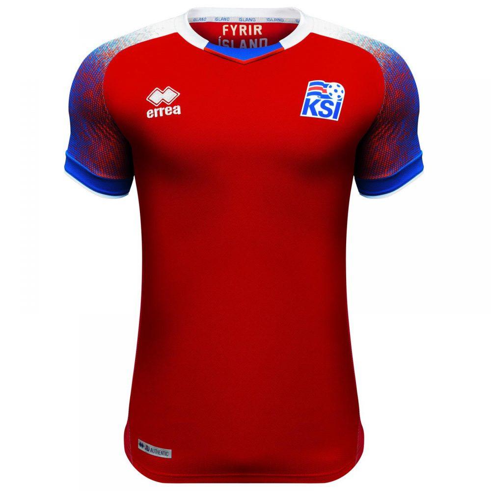 248f35b232b Iceland Away 2018 World Cup Jersey (Red) | AmoJerseys